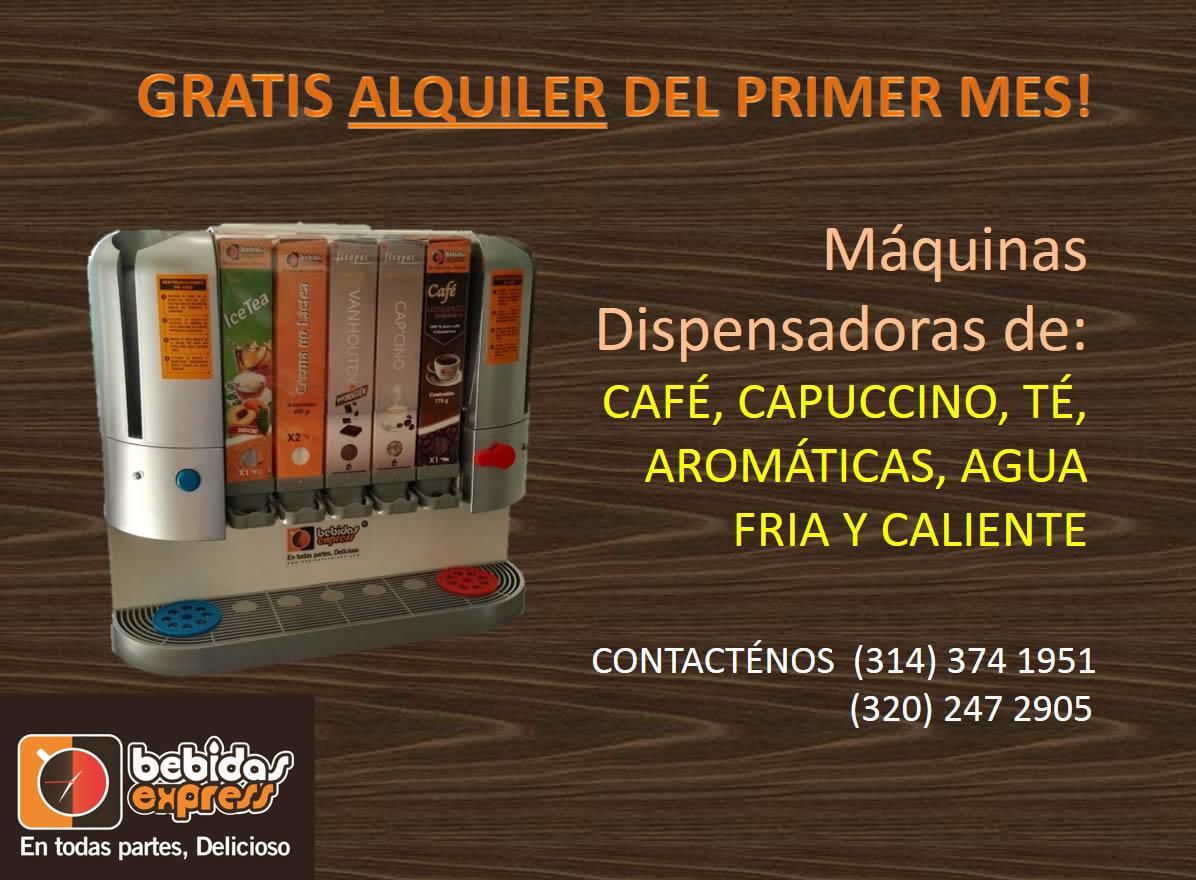 Promoción máquinas dispensadoras de café, en alquiler