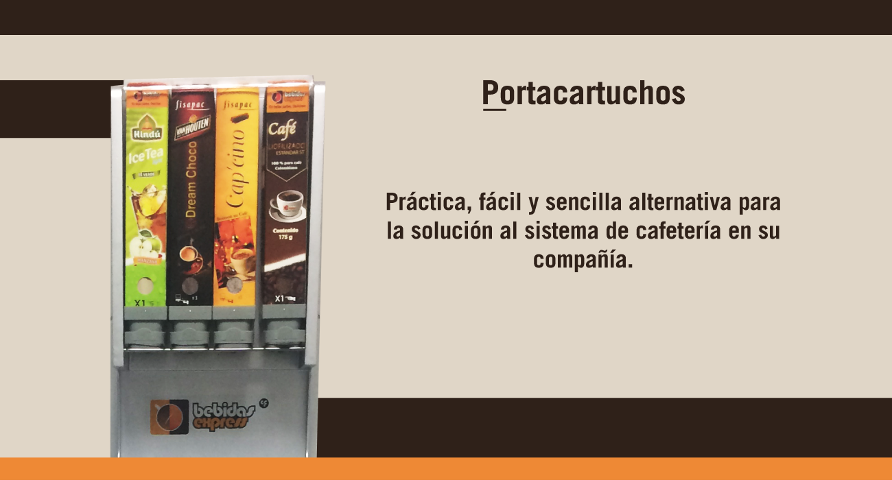 Portacartuchos para máquina dispensadora de bebidas