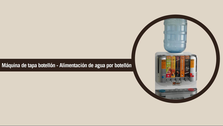 Maquina Dispensadora de Bebidas calientes con Botellón
