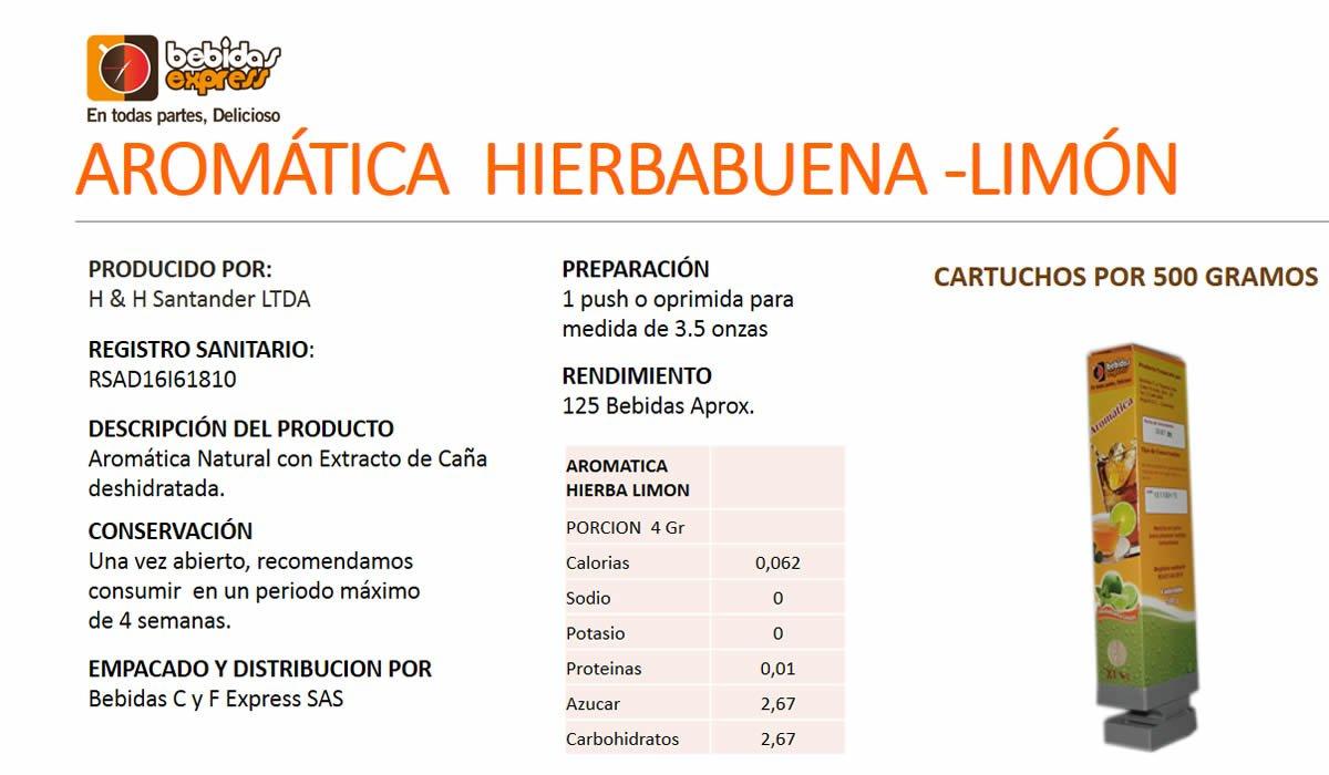 Aromática de Hierbabuena-Limón